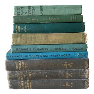Collected Vintage Blue Library Books - Set of 9