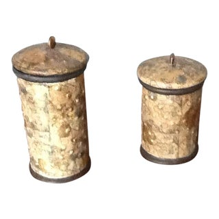 Artisan Canisters - A Pair For Sale