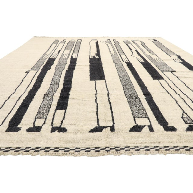 Mid-Century Modern Contemporary Moroccan Rug Inspired by Alberto Giacometti - 10'00 X 13'08 For Sale - Image 3 of 10
