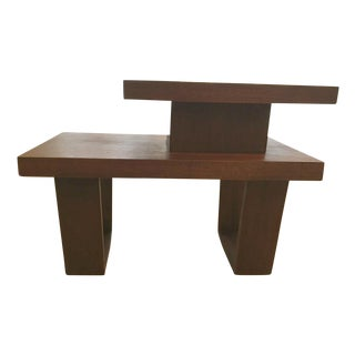 Modern Wood Table For Sale