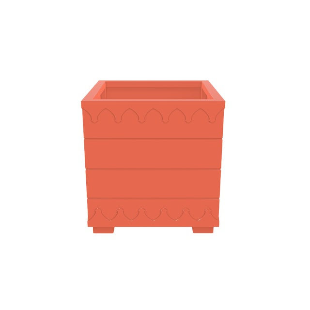 Not Yet Made - Made To Order Oomph Ocean Drive Outdoor Planter Large, Orange For Sale - Image 5 of 6