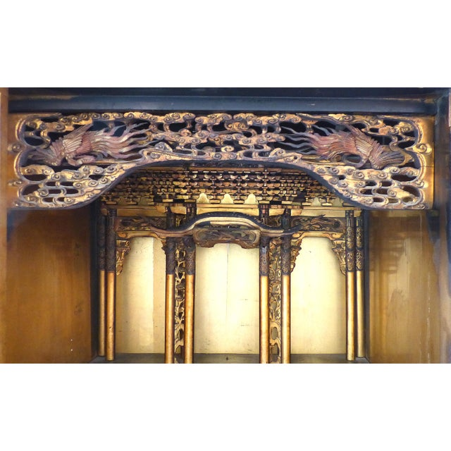 1900 - 1909 Antique Monumental Japanese Buddhist Temple on Stand For Sale - Image 5 of 8