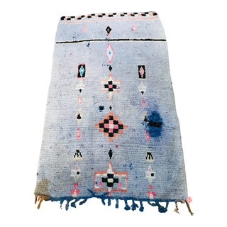 1980s Vintage Moroccan Boujad- 3′5″ × 5′6″ For Sale