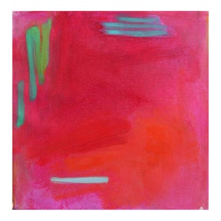"""Small Abstract Oil Painting by Trixie Pitts """"Miami 2"""""""