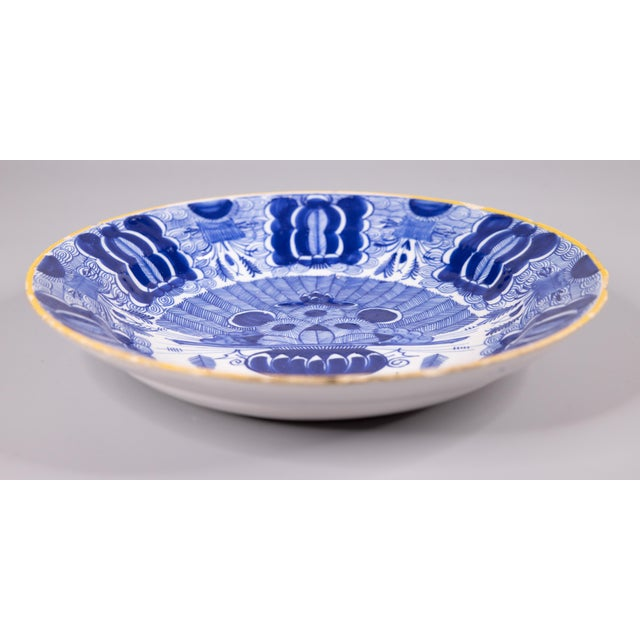 Delft 18th-Century Dutch Delft Peacock Charger For Sale - Image 4 of 7