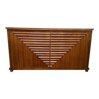 Hickory White Mid-Century Modern Style Wood Buffet/Credenza For Sale