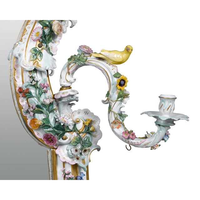 Mid 19th Century MEISSEN PORCELAIN ROCOCO MIRROR For Sale - Image 5 of 10