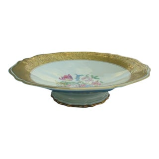 Rosenthal Chippendale Gold-Gild Rim Floral Candy & Cake Dish For Sale