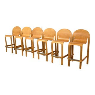 Peter Danko Bodyform Bar Stools - Set of 6 For Sale
