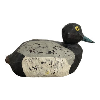 Vintage Folk Art Primitive Duck Decoy For Sale