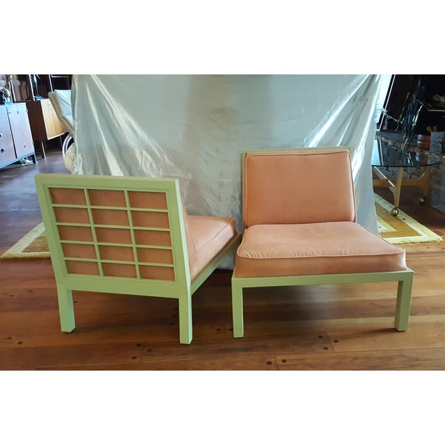 Michael Taylor for Baker Slipper Chairs - A Pair - Image 2 of 6