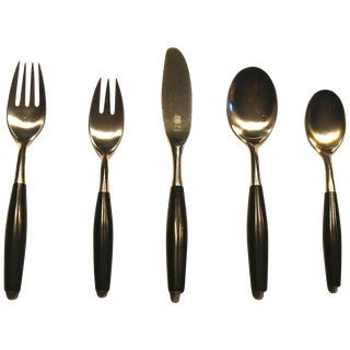 "Dansk Jens Quistgaard ""Kongo"" Flatware-Set Of 5 For Sale"