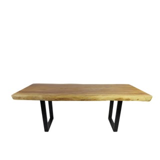 Organic Modern Suar Dining Table For Sale