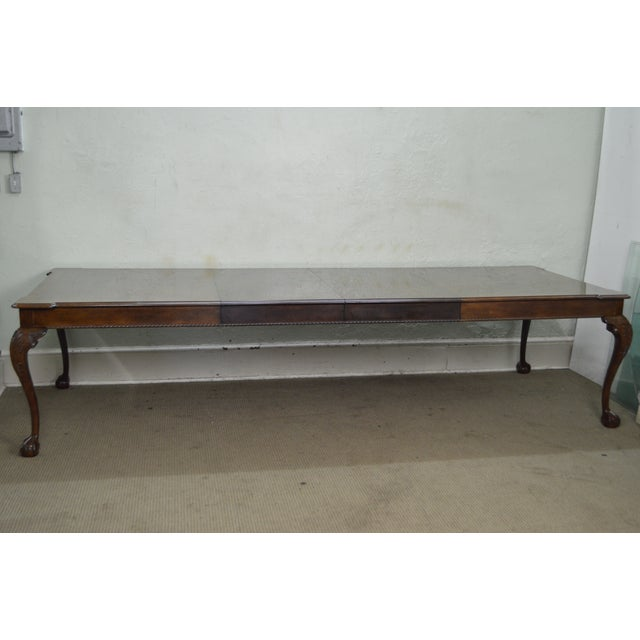 Henredon Henredon Rittenhouse Square Mahogany Clawfoot Chippendale Style Dining Table For Sale - Image 4 of 10