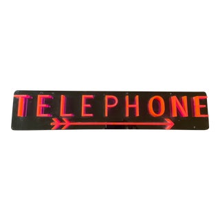 Mid-Century Modern Telephone Sign For Sale