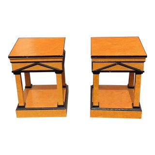 Mid-Century Modern Regency Side Tables - a Pair For Sale