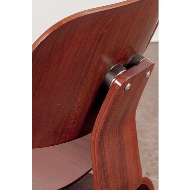 Rare Eames Pre-Production Rosewood LCW - Image 5 of 11