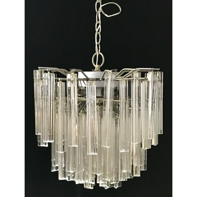 Venini Crystal Chandeliers - A Pair For Sale - Image 5 of 11