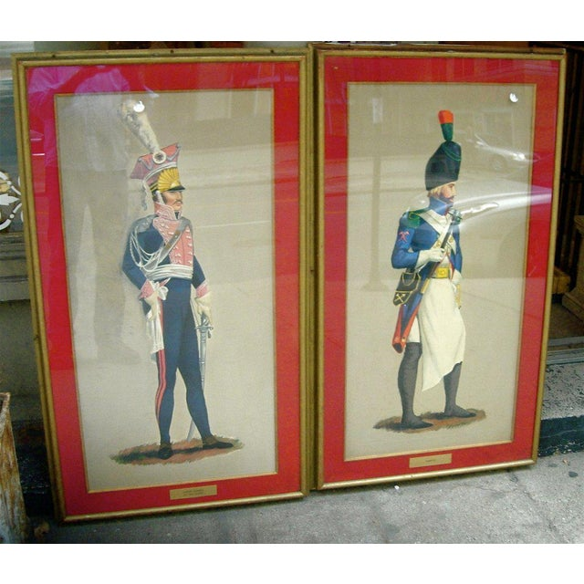 Early 20th Century Set of Seven Royal Officers' Portraits Oil on Canvas For Sale - Image 5 of 11