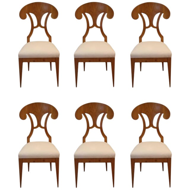 Biedermeier Dining Chairs - Set of 6 - Image 1 of 4