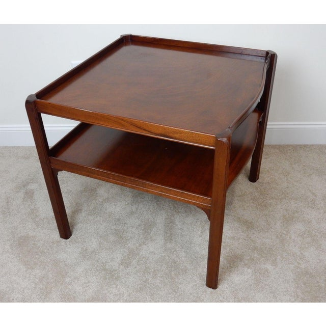 Baker Furniture Large 2 Tier Mahogany Table - Image 9 of 11