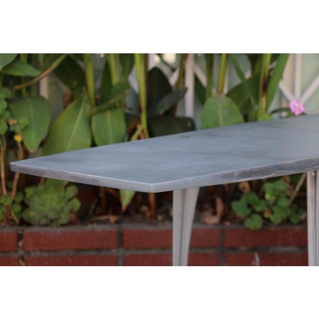 Metal Aluminum Robert Josten Console Table For Sale - Image 7 of 11