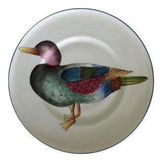 De Folin for Tour d'Argent Paris Hand Painted Limoges Duck Plate For Sale