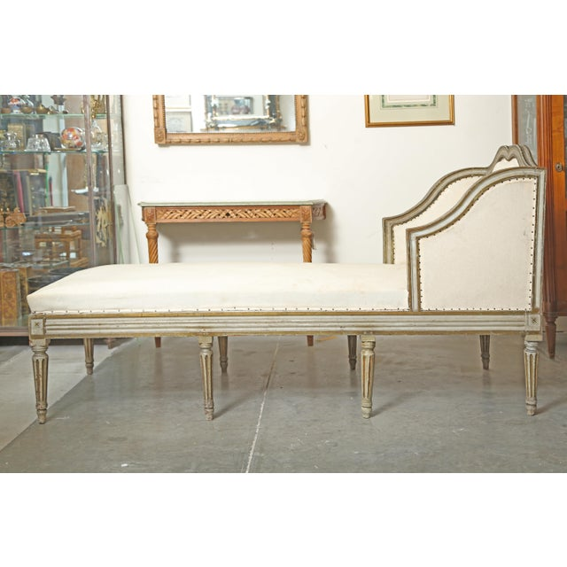 Louis XVI Chaise in Original Paint For Sale In West Palm - Image 6 of 9