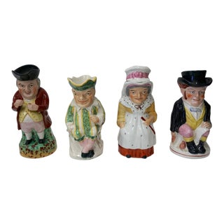 Punch and Judy Staffordshire Toby Jugs - Set of 3 For Sale