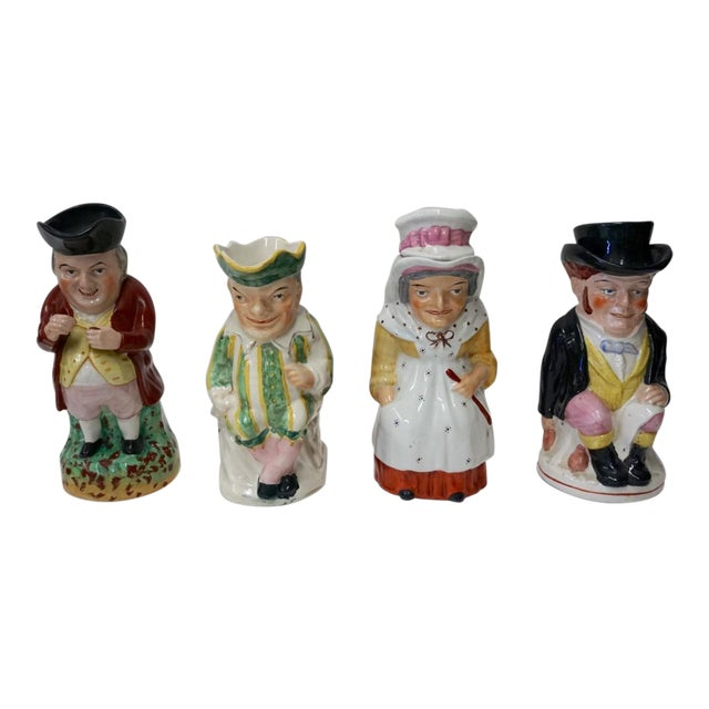 Punch and Judy Staffordshire Toby Jugs - Set of 4 For Sale
