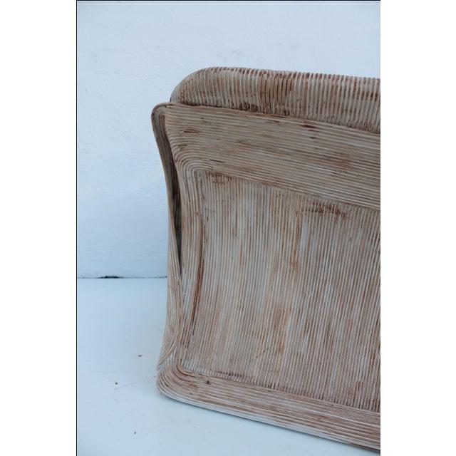 Gabriella Crespi Style Pencil Bamboo Club Chair - Image 8 of 11