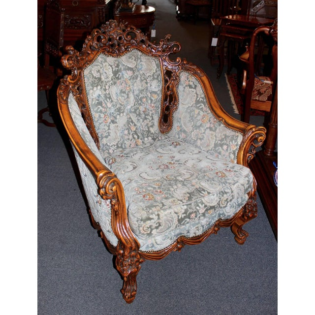 French Rococo Parlor Suite - Set of 3 For Sale - Image 3 of 6
