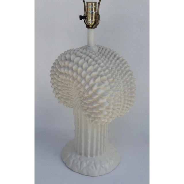 1970s John Dickinson Plaster Palm Cactus Lamp For Sale - Image 5 of 11