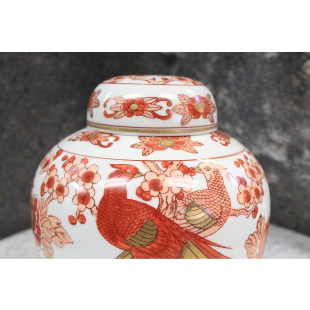 Late 20th Century Chinese Imari Ginger Jar For Sale - Image 5 of 9
