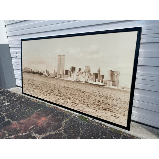 Photorealism 1970s Cityscape of Lower Manhattan Photograph, Framed For Sale - Image 3 of 11