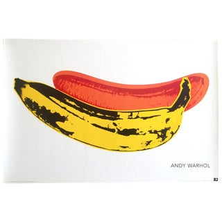 "Andy Warhol Foundation Vintage Offset Lithograph Print Pop Art Poster "" Banana"" 1966 For Sale"