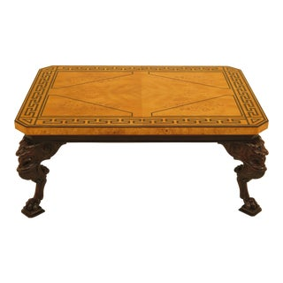 Baker Stately Homes Russian Empire Lion Head Coffee Table For Sale