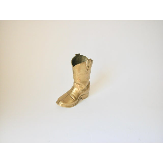 Brass Cowboy Boot For Sale - Image 4 of 9
