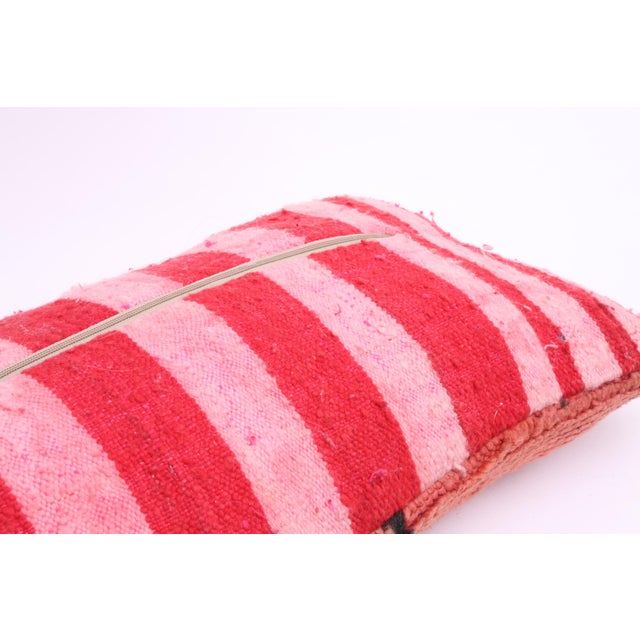 Vintage Moroccan Rug Lumbar Pillow Cover - Image 4 of 4