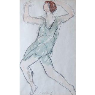 Abraham Walkowitz - Isadora Duncan (Blue) For Sale