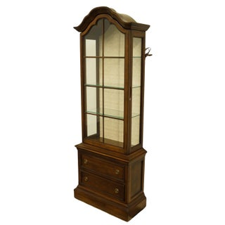 """20th Century French Country Brandt 25"""" Illuminated Curio Display Cabinet With Bonnet Top Preview"""