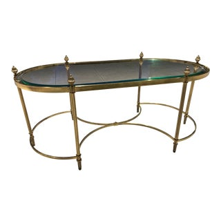 French Mid-Century Modern Jansen Style Maison Baguès Coffee Table For Sale