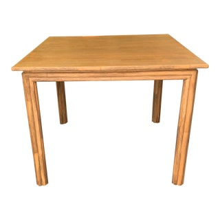 Mid-Century Modern Bamboo Card Table For Sale