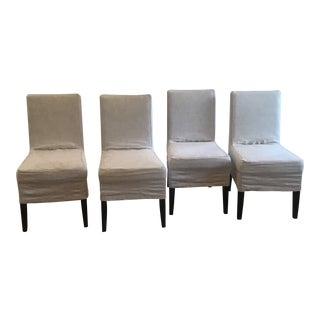 Restoration Hardware Parsons Dining Chairs Set of 4 For Sale