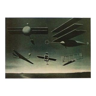 "1972 Rene Magritte, ""The Black Flag"" Original Photogravure For Sale"