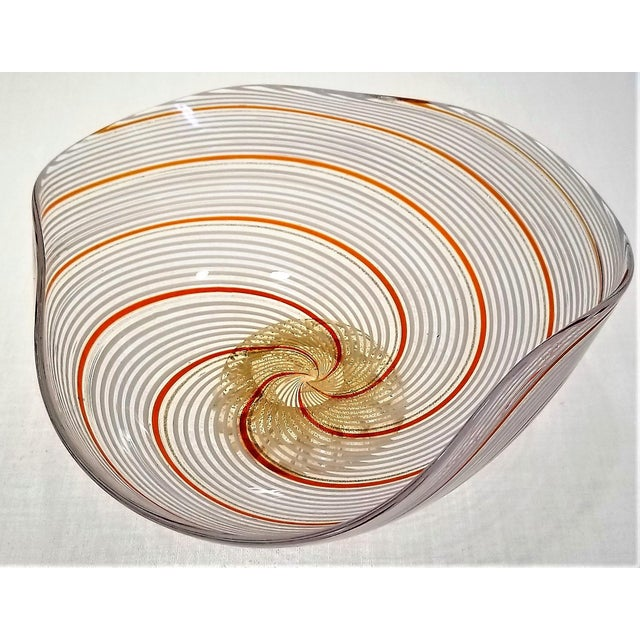 Vintage Murano Glass Bowl by Dino Martens - 1954 For Sale - Image 10 of 11