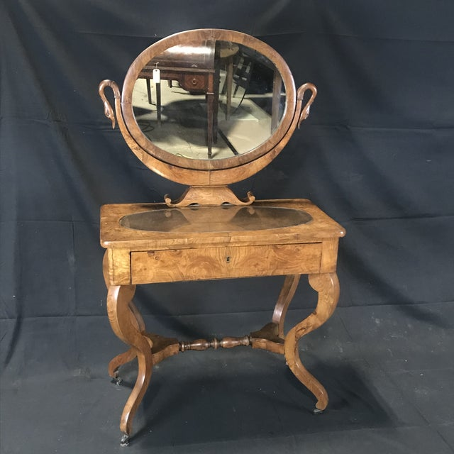 Mid 19th Century French Walnut Dressing Table For Sale - Image 13 of 13