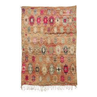 "Boujad Vintage Moroccan Rug, 6'7"" X 9'3"" For Sale"