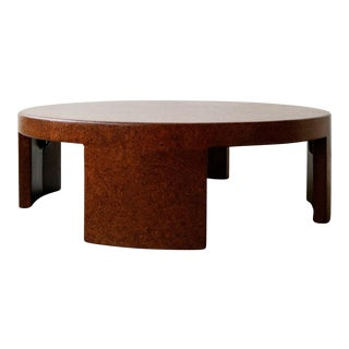 Mid Century Paul Frankl Round Cork Coffee Table For Sale