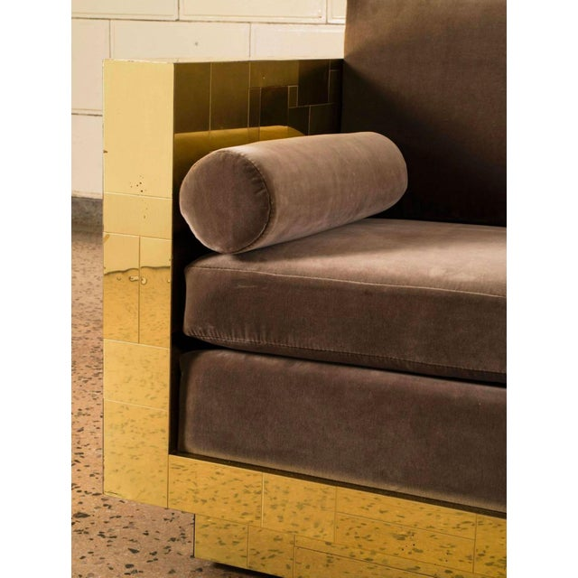 Paul Evans Brass Settee For Sale In New York - Image 6 of 10